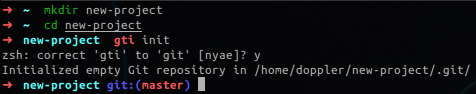 zsh autocorrects a typo