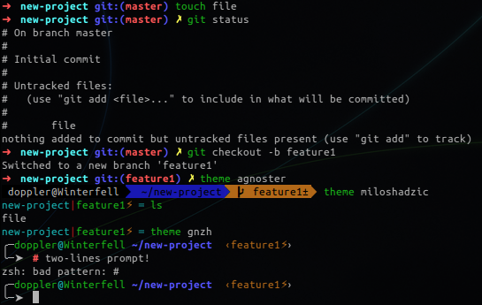 git repo info in your prompt