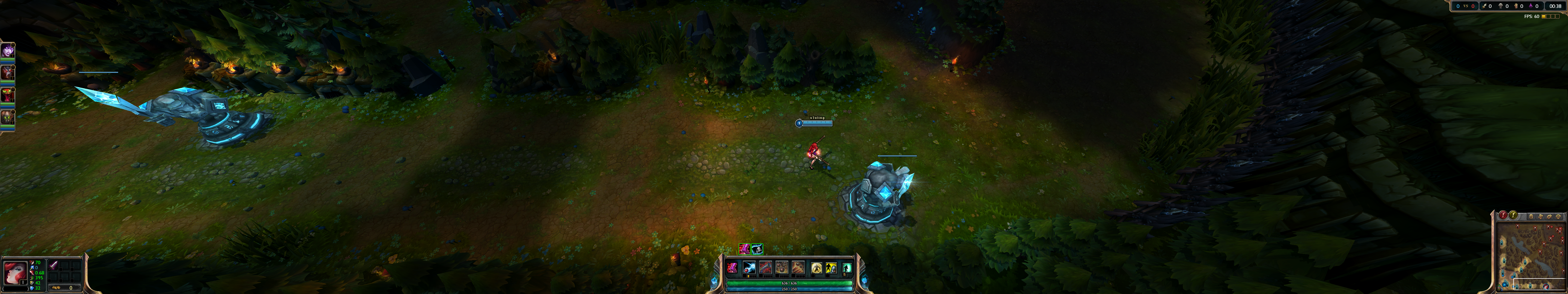 Screenshot from Leauge of Legends on 3 screens before the fix