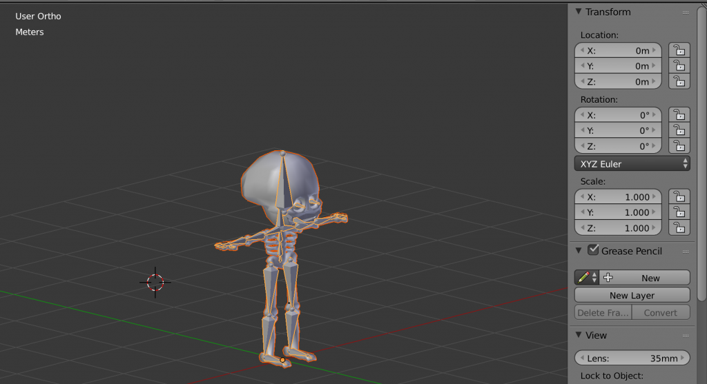 Export rigged character from Blender to UE4